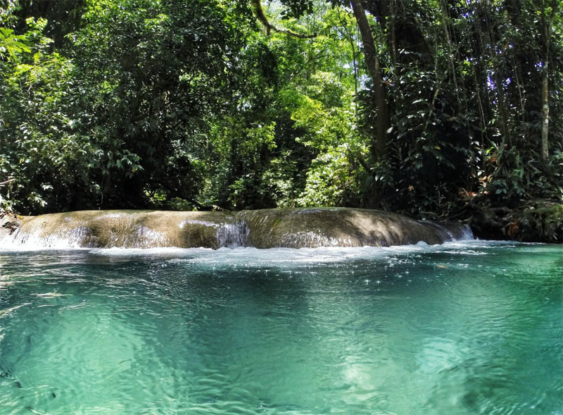 waterfall mineral spring